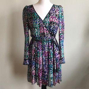 Kate Spade Multi-Color Faux Wrap Dress
